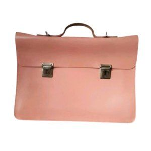 Vintage pink 'briefcase' style large school bag